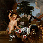 Florentin Damoiselet -- Cupid and flowers, Part 4 Louvre