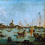 Francesco Guardi -- The Doge in the Buccintor Passes San Niccolo del Lido on Ascension Day, Part 4 Louvre
