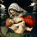 Andrea Solario -- Madonna and Child with Green Cushion, Part 4 Louvre