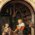 Gerrit Dou -- The Village Shopkeeper, Part 4 Louvre
