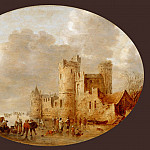 Part 4 Louvre - Jan van Goyen (1596-1656) -- Skaters near a Medieval Castle