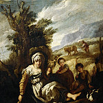 Part 4 Louvre - Domenico Fetti -- Eve Spinning, Adam Ploughing (Country Life)