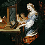 Part 4 Louvre - Jacques Stella -- Saint Cecily playing the organ