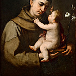 Luca Giordano -- Saint Anthony of Padua and the Infant Jesus, Part 4 Louvre