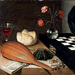 Lubin Baugin -- Still Life with Chessboard , Part 4 Louvre