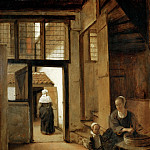 Pieter de Hooch -- Courtyard of a Dutch House, Part 4 Louvre
