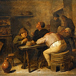 Adriaen Brouwer -- Interior of a Tavern, Part 4 Louvre