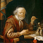 Gerrit Dou -- Man Weighing Gold, Part 4 Louvre