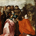 Francisco Herrera the Elder -- Saint Francis of Assisi Healing Saint Bonaventure as a Child, Part 4 Louvre