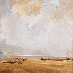 Richard Parkes Bonington -- View of Normandy Beach, Part 4 Louvre