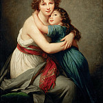 Elisabeth Louise Vigée-LeBrun -- Madame Vigée-LeBrun and her daughter, Jeanne-Lucie-Louise, called Julie, Part 4 Louvre