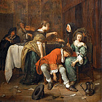 Jan Steen -- Wicked Company, Part 4 Louvre