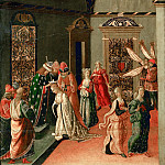 Part 4 Louvre - Jacopo del Sellaio (c. 1441-1493) -- The Coronation of Esther by Ahasuerus