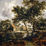 Meindert Hobbema -- The Watermill, Part 4 Louvre
