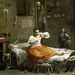 Part 4 Louvre - Giuseppe Maria Crespi -- Woman with a Flea