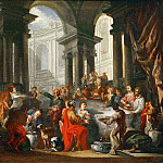 Giovanni Paolo Panini -- Feast under an Ionic portico., Part 4 Louvre