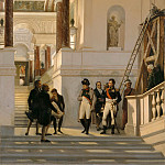 Part 4 Louvre - Auguste Couder -- Napoleon I visit the Louvre, accompanied by architects Percier and Fontaine