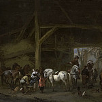 Wouwerman, Philips -- Een paardenstal, 1650-1668, Rijksmuseum: part 3