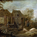 Unknown artist -- Boerenerf, 1640, Rijksmuseum: part 3