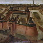 Unknown artist -- Het kasteel Vredenburch te Utrecht in vogelvlucht, 1550-1599, Rijksmuseum: part 3
