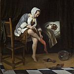 Steen, Jan Havicksz. -- Het toilet, 1655-1660, Rijksmuseum: part 3