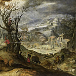 Bril, Paul -- Winterlandschap, 1615-1650, Rijksmuseum: part 3