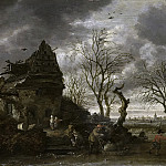 Rombouts, Salomon -- Wintergezicht, 1660-1702, Rijksmuseum: part 3