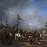 Een legerkamp, 1650-1668, Philips Wouwerman