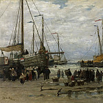 Pinken in de branding, 1875-1885, Willem Mesdag