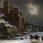 Schellinks, Willem -- Stadswal in de winter, 1660-1678, Rijksmuseum: part 3
