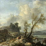 Wouwerman, Philips -- Landschap met zandweg langs een rivier, 1650-1668, Rijksmuseum: part 3
