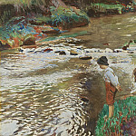 European art; part 1 - Dame Laura Knight The Two Fishers 40234 20