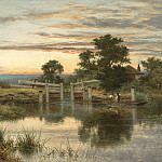 European art; part 1 - Benjamin Williams Leader A Lock on the Thames Streatley 99379 20
