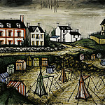 European art; part 1 - Bernard BUFFET La plage des Callots