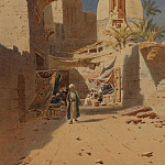 European art; part 1 - Augustus O Lamplough A North African Street Scene 108519 3606