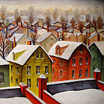 European art; part 1 - Arnold Friedman Suburbs Winter 89950 1184