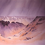 European art; part 1 - David Bellamy Looking into Wadi Hamra 31417 3606