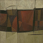 European art; part 1 - Alan Reynolds Red black russet and grey
