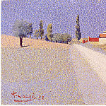 European art; part 1 - Achille LAUGE Route de campagne 40613 1146