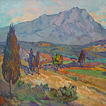 European art; part 1 - Antoine Marie Joseph Guiran Sainte Victoire Mountain 36989 3306