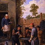 European art; part 1 - David Teniers The Younger Peasants playing dice outside an inn 18342 172