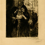 European art; part 1 - Albert Besnard Nuit de Noël à Fontarabie – Christmas Night at Fontarabie 1904 123059 1124