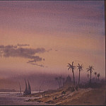 European art; part 1 - David Bellamy Nile at Luxor at Dusk 31917 3606