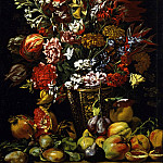 European art; part 1 - Master of the Acquavella Still Life - Still Life with Fruit and a Bouquet of Flowers [attr.]