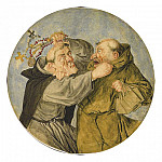 European art; part 1 - CORNELIS DUSART Two Monks Fighting 11344 172