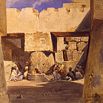European art; part 1 - Carl Werner School in the Temple of Luxor 31340 3606