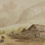 European art; part 1 - Carl Wagner View of Meiringen in Switzerland 122568 1124