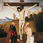 European art; part 1 - Bernardino di Bosio Zaganelli Christ on the Cross with Saint Jerome and an Augustinian Saint 16721 203