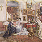 European art; part 1 - Alfred STEVENS Brussels 1823 Paris 1906 In the Painter's Drawing Room 90038 121