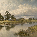 European art; part 1 - Benjamin Williams Leader Severn side Sabrinas stream at Kempsey on the river Severn 40252 20